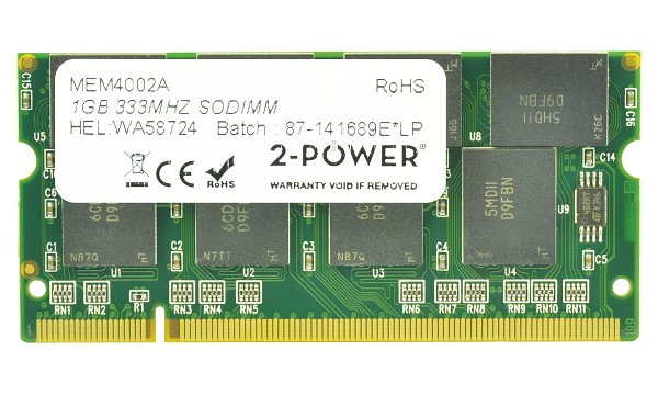 Satellite A50-107 1GB PC2700 333MHz SODIMM