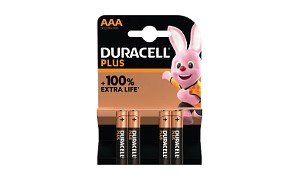 Duracell Plus Power AAA 4 Packs Batterier